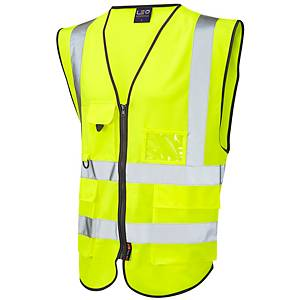 Superior High Visibility  Waistcoat Yellow Large