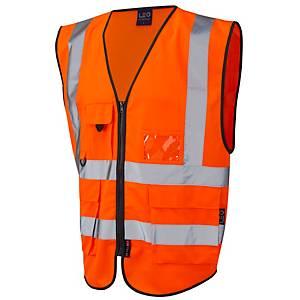 Superior High Visibility  Waistcoat Orange XXL