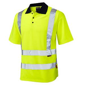 High Visibility Polo Shirt Yellow  Small