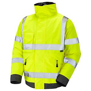 High Visibility Bomber Jacket Yellow Medium