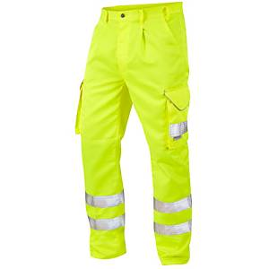 High Visibility Poly Cotton Cargo Trousers Yellow 34R