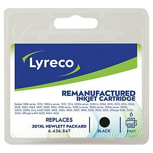 LYRECO kompatibilná atramentová kazeta HP 301XL (CH563EE) čierna
