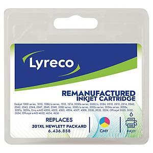 LYRECO kompatible Tintenpatrone HP 301XL (CH564EE) 3-farbig C/M/G
