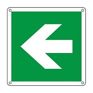 Cartello segnaletico di emergenza ''FRECCIA DIREZIONALE SINISTRA''
