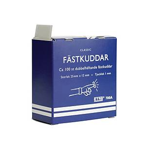 Fästkuddar ETAB 700A, 25 x 12mm, vita, förp. med 100st.