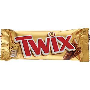 Chokoladebar Twix, 50 g, æske a 32 stk.