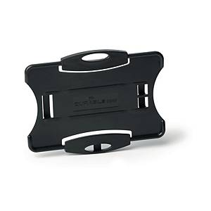 DURABLE SECURITY PASS HOLDERS BLACK - PACK OF 10