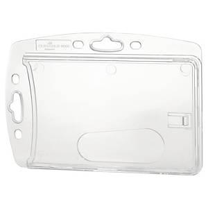 Portabadge rigido per 1 tessera Durable trasparente - conf. 10