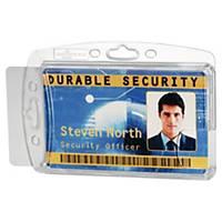 Durable transparenter Ausweishalter für 2 Ausweise, 10 Stk/Pack