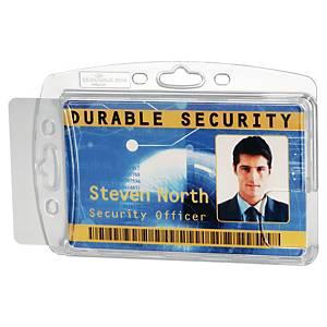 Durable držák na 2 bezpečnostní průkazy, balení 10 ks, průhledný
