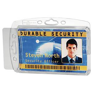 DURABLE 8924-19 DUAL PROXIMITY CARD HOLDER TRANSPARENT PACK OF 10