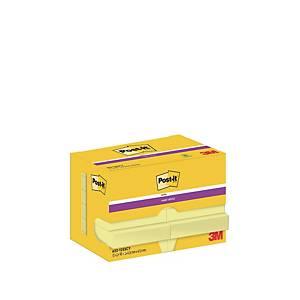 Haftnotizen Post-it Super Sticky 62212SY, 48 x 48 mm, 12 Blöcke à 90 Blatt, gelb