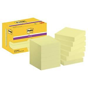 Notisblock Post-it Super Sticky Notes, 47,6 x 47,6mm, gula, förp. med 12 block