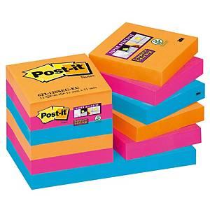 Post-it Super Sticky viestilappu Bangkok 51x51mm 1 kpl=12 nidettä
