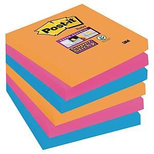 Post-it Super Sticky Notes Bangkok, 76 x 76 mm, pakke a 6 blokke
