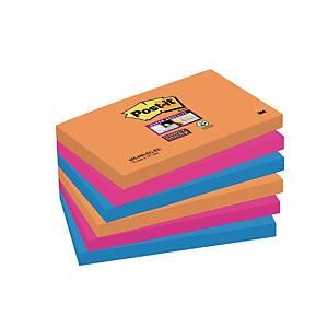 Post-it Super Sticky Notes Bangkok, 76 x 127 mm, pakke a 6 blokke