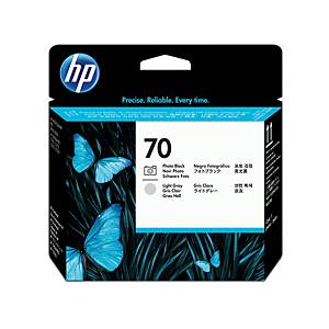 HP tisková hlava 70 (C9407A), černá/světle šedá