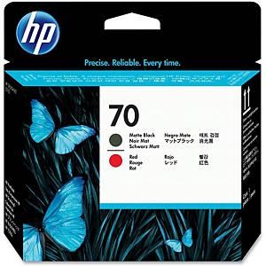 HP 70 Matte Black and Red DesignJet Printhead (C9409A)