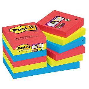 Post-it Super Sticky viestilappuBora Bora 51x51mm, 1 kpl=12 nidettä