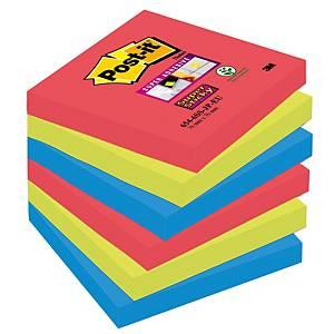 Post-it Super Sticky viestilappu Bora Bora 76x76mm, 1 kpl=6 nidettä