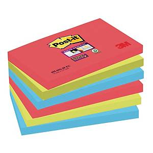 Karteczki samoprzylepne Post-it Super Sticky, Bora Bora, 76x127mm, 6x90k