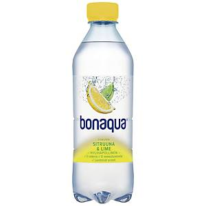 Bonaqua kivennäisvesi sitruuna-lime 0,5L, 1 kpl=24 pulloa