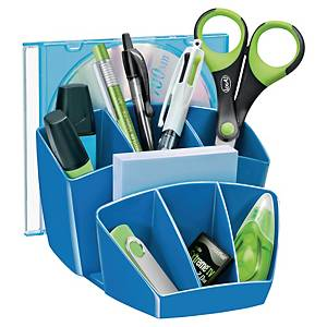 Organiseur de bureau Cep, 7 compartiments, bleu Gloss