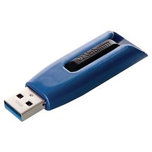 Clé USB V3 Max Verbatim, USB 3.0, 128 GO, noir