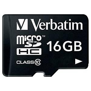 Verbatim micro Secure Digital (SD) memory card class10 speed - 16GB