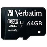 Micro SD paměťová karta Verbatim, 64 GB s adaptérem