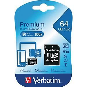 SDXC-Card Verbatim 44084, Speicherkarte, 64GB