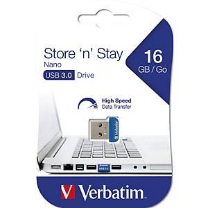 Verbatim 98709 Store ´n´ Stay USB Drive 3.0 Nano 16GB