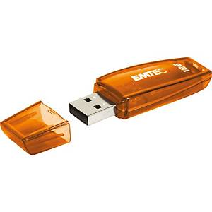 Clé USB Emtec C410, USB 3.0, 128 GB, orange