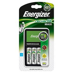 Chargeur de piles Energizer Accu recharge Maxi + 4 piles AA