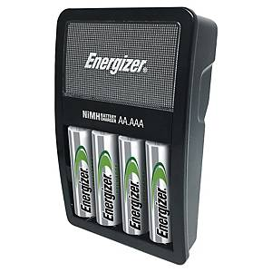 Caricatore Energizer Maxi per 4 Batterie ricaricabili AA/AAA con 4 Batterie 1,2V