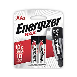 ENERGIZER Max E91 AA Alkaline Batteries Pack Of 2