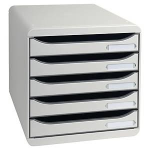 Exacompta BIG-BOX PLUS 5 Drawer Set, Light Grey
