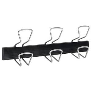 Alba PMPRO3M coat rack 3 double wall plegs black/metal