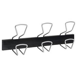 Alba PMPRO3M coat rack 3 double wall plegs black/metal