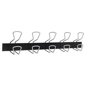 Alba PMPRO5M coat rack 5 double wall plegs black/metal