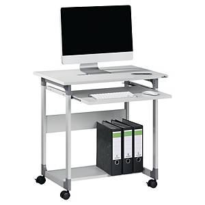 Durable System computermeubel met 2 legplanken, B 75 x H 77 x D 53,4 cm, grijs
