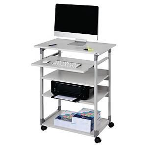 Computertisch Durable 3720, 4 Böden, mobil, grau