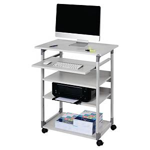 Durable System computer trolley with 4 shelves 75x96-124x50 cm