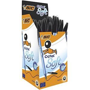 Bic Cristal Soft Ball Pen Black Box of 50