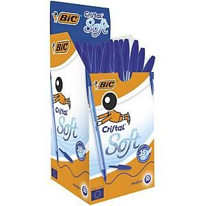 Bic Cristal Soft Ball Pen Blue Box of 50