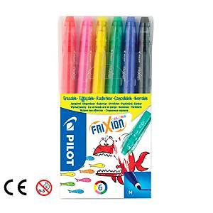 Pilot Frixion törölhető marker, vegyes szín, 6 db/csomag