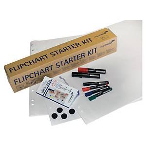 Kit accessoires Legamaster Starter Kit, pour tabl. feuilles mob., 10 pièces