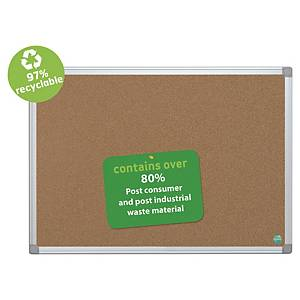Bi Office cork board with frame in aluminium 90 x 120 cm