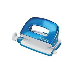 Leitz 50601 Wow Mini Punch Blue - 10 Sheets Capacity