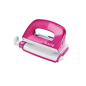 Leitz 50601 Wow Mini Punch Pink -10 Sheets Capacity